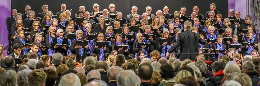 Op 3 februari 2019 hebben we met volle overgave, geïnspireerd door de ontroerende muziek, Mozarts Requiem uitgevoerd